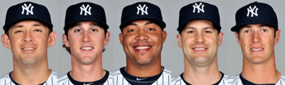Yankee call-ups (L to R): Billings, Mitchell, Cabral, Daley, Greene.
