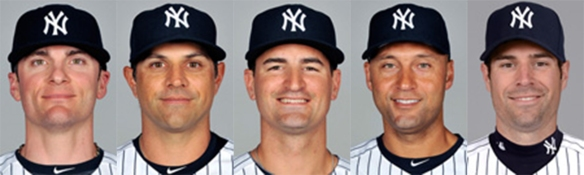 Yankees middle infielders (L to R): Ryan, Roberts, Anna, Jeter, Sizemore