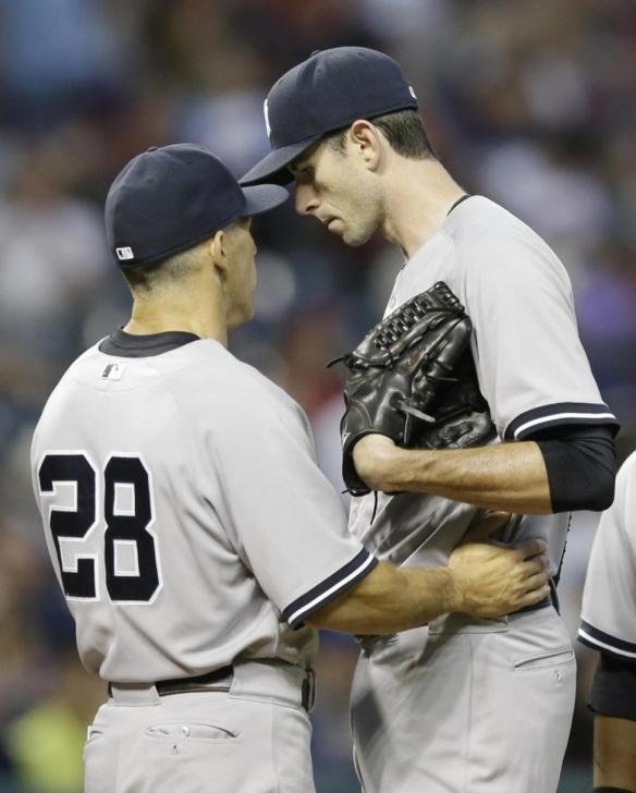 Brandon McCarthy with Joe Girardi