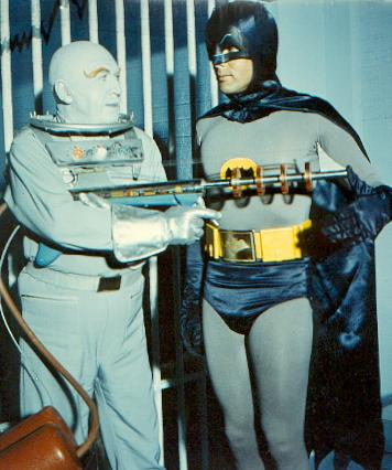 Otto Preminger as Mr Freeze with Adam West
