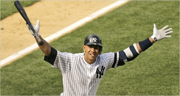 Alex Rodriguez - just when you thought it was safe to go back into the infield...