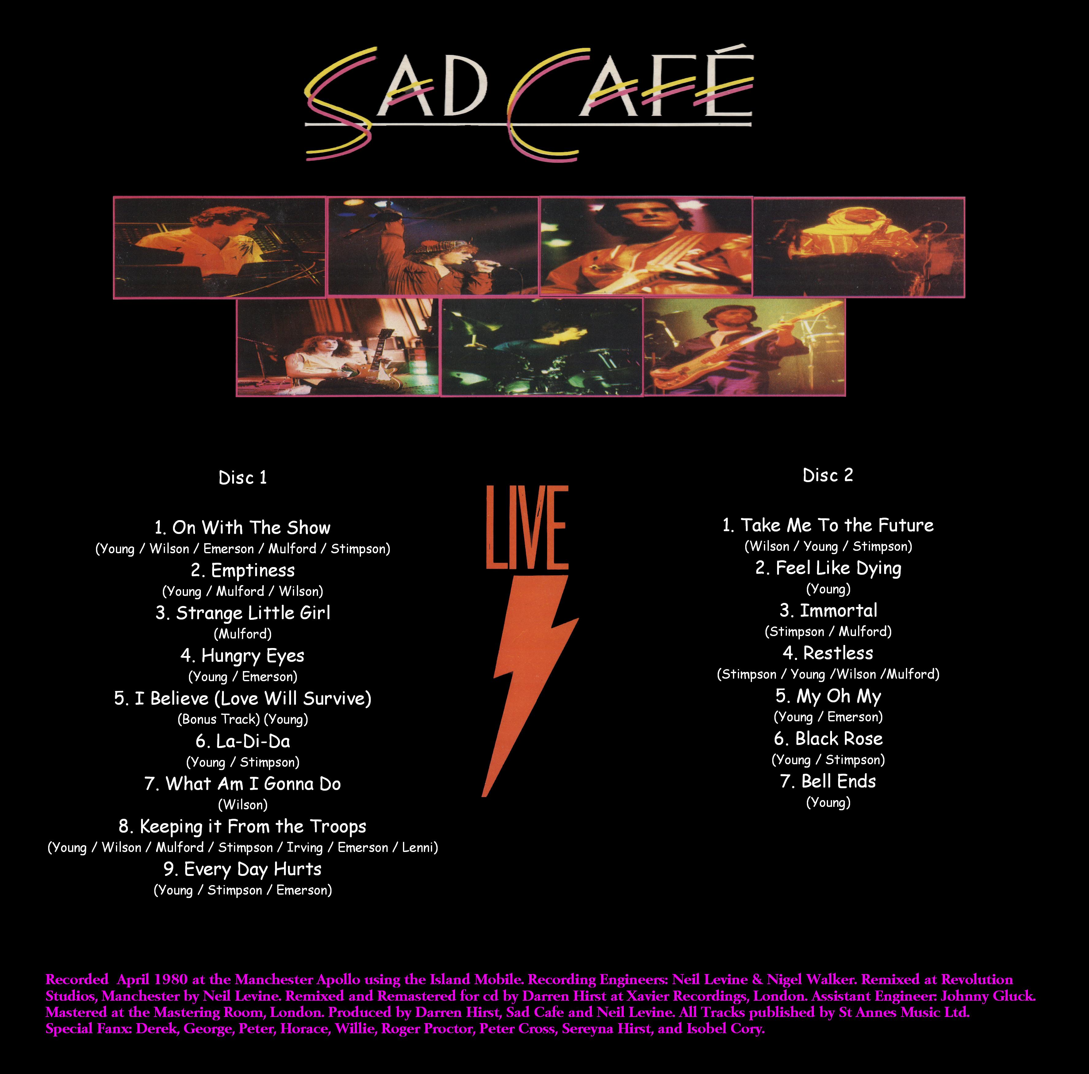 Sad Cafe Live 5