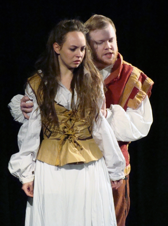 Hamlet (James Bonser) rejects Ophelia (Flora Clementine)