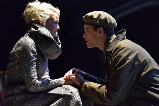 Joanna Vanderham as Desdemona with Cassio (Jacob Fortune-Lloyd)